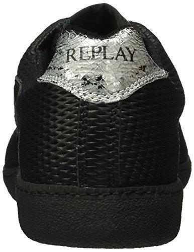 REPLAY Replica Scatto Pulse, Sneaker Basse Uomo Schwarz (Black 3)