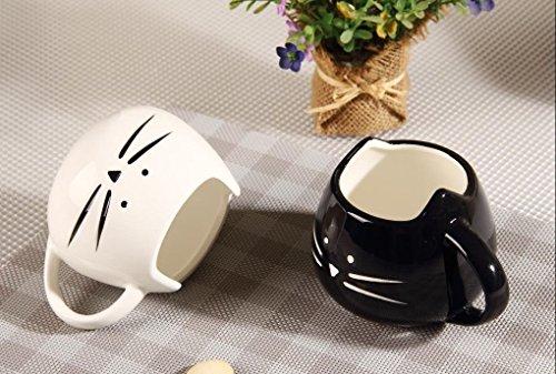 confronta il prezzo Cisixin 300ml gatto Ceramica carina coppa, Tazza da caffè in ceramica, innovativi Cat modello Cup(Nero) miglior prezzo
