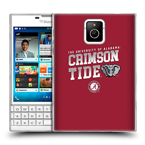 Head Case Designs Offizielle University of Alabama UA Crimson Tide Soft Gel Huelle kompatibel mit BlackBerry Passport Crimson University