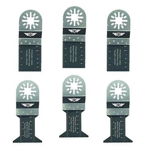 6 x TopsTools UNK6BMX Bi-Metall Klingen für Bosch Fein (Nicht-StarLock) Makita Milwaukee Einhell Hitachi Parkside Ryobi Worx Workzone Multi Tool Multifunktionswerkzeug Oszillierwerkzeug Zubehör Hitachi Multi-system