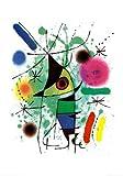 Kunstdruck 'Der singende Fisch', von Joan Miró, Größe: 70 x 100 cm