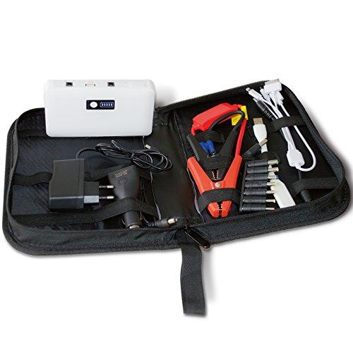 12 V JumpStarter 14.000mAh PowerBank Auto Batterie Ladegerät Starthilfe KFZ Laptop 12 V, 16 V oder 19 V, USB 5 V / 2 A
