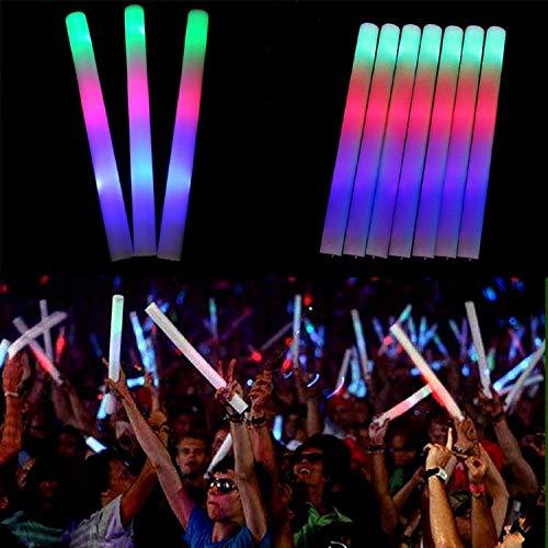 XuBa Glühen Stock 15PCS LED Bunt Blinkend Schaum Schwamm Hübsch Hell für Partei Konzert Halloween Hochzeits Weihnachten