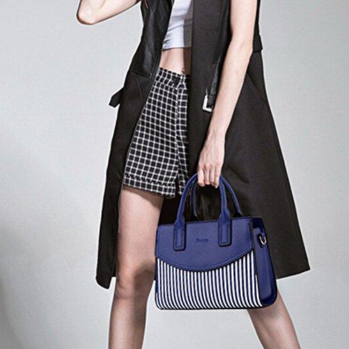 Li & Hi Moda Donna Vintage Elegante Striscia Di Pelle Pendolari Borse Tracolla Borse A Spalla Borse Da Sera Frizione Nera