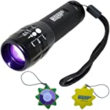 HQRP Professionnelle 3W UV 390 nM Lampe de Torche Blacklight Flashlight avec Zoom / Focale Variable + HQRP mètre du soleil