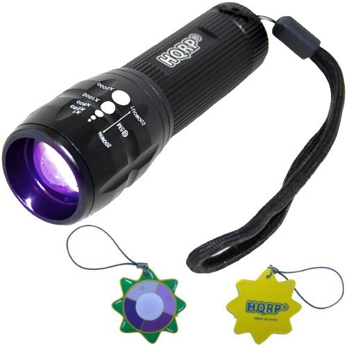 HQRP Profesional Linterna 3W UV Ultravioleta 390 nM Antorcha lámpara con Zoom / cambio de enfoque más...