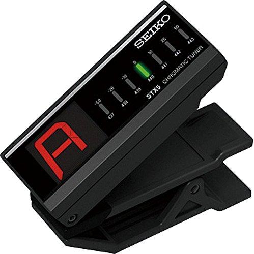 Seiko STX5E - Afinador crómatico de pinza, color negro