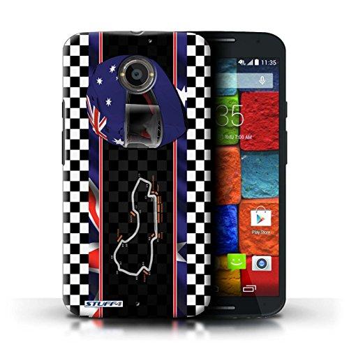 Kobalt® Imprimé Etui / Coque pour Motorola Moto X (2014) / Italie/Monza conception / Série F1 Piste Drapeau Australie/Melbourne