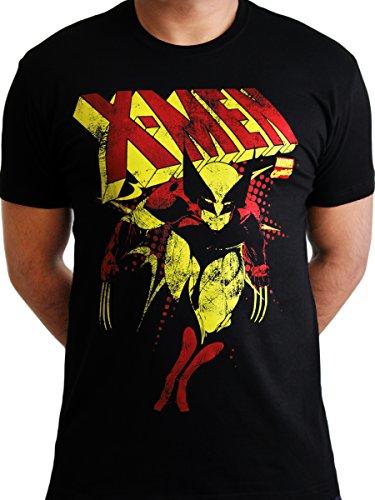 Wolverine X-men Logan Magneto Licensed Marvel Comics Movie Mens Black T-shirt