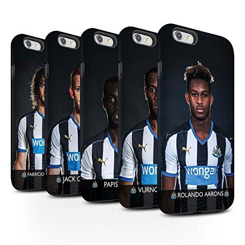 Offiziell Newcastle United FC Hülle / Matte Harten Stoßfest Case für Apple iPhone 6S+/Plus / Pack 25pcs Muster / NUFC Fussballspieler 15/16 Kollektion Pack 25pcs
