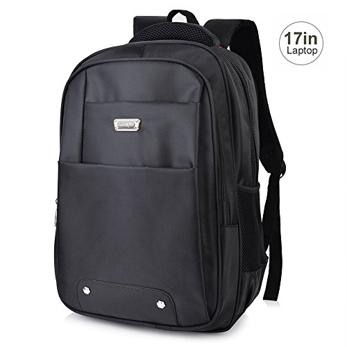 16cde2839af95 Vbiger Laptop Rucksack Notebook Backpack Wasserabweisend Mordern Rucksack  Schwarz 43 cm (17 Zoll)