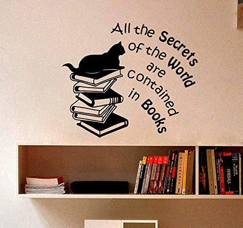 Buch Zitate Kunst Wandtattoo Vinyl Aufkleber Für Kinderzimmer Lesen Shop Bibliothek Wandbild Schlafzimmer Wohnzimmer Wohnkultur Poster 42x49 cm -