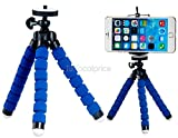 Blue Flexible Mini Tripod Stand For Digital Camera & Mobile Phones - High Quality Techlife Brand Launching Offer