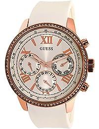 Guess Damen-Armbanduhr Analog Quarz Silikon W0616L1