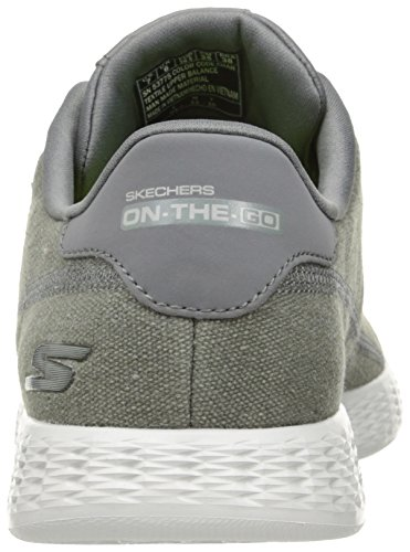 Skechers On-the-Go Glide-Eaze, Sneakers Basses Homme Gris (Char)