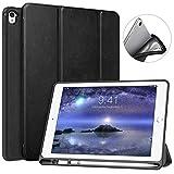 MoKo Custodia per iPad PRO 9.7 con Portapenna per Apple Pencil, Protettiva Ultra Sottile, Supporta Funzione Auto Sveglia/Sonno per Apple iPad PRO 9.7 inch 2016 Tablet, Nero