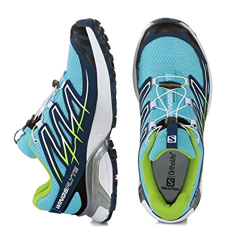 Salomon Wings Flyte W, Scarpe sportive, Donna Air/Fjord/Granny Green