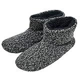 Stricken Wolle warme Männer Indoor Pull auf gemütliche Memory Foam Slipper Stiefel/Booties TPR Gummisohle Rutschfeste