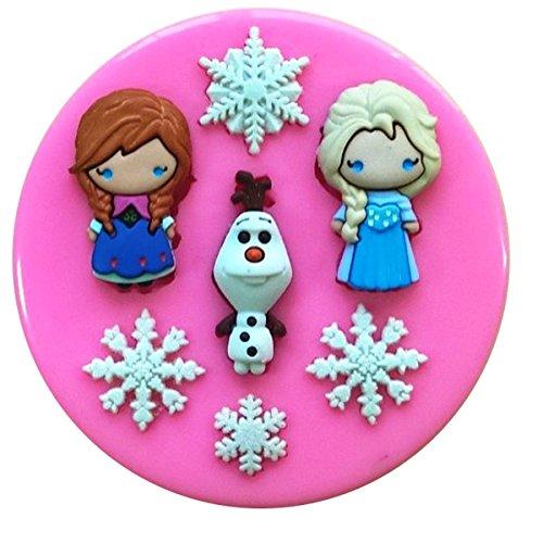 Anna Elsa Olaf Frozen Zeichen Silikonform Form für Kuchen dekorieren KUCHEN, Cupcake Topper Zuckerguss Sugarcraft von Fairie, Blessings