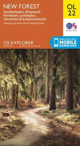 os-explorer-ol22-new-forest-southampton-ringwood-ferndown-lymington-christchurch-and-bournemouth-os-
