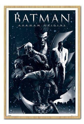 Batman Arkham Origins pêle-mêle Poster Tableau d'Affichage magnétique Hêtre encadré – 96.5 x 66 cms (environ 96,5 x 66 cm)