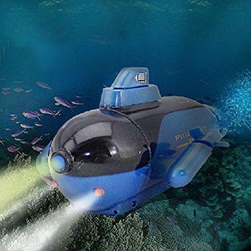 redcrest (TM) New Hot Classic Mini Radio RC Sub U-Boot mit LED für Kinder Kids Geschenke