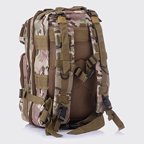 ELEAR® Sport esterno tattico militare dello zaino Molle Zaini campeggio Escursionismo Bag Borsa a tracolla Uomo Donna Outdoor Sport Camping Escursionismo sacchetto foglie Camouflage