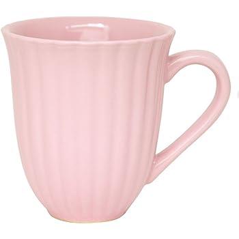 Tasse mug avec anse céramique rose cannelée 'mynte''english rose'iB laursen