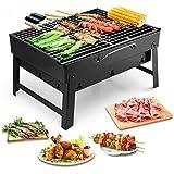 Uten Barbecue Carbone Portatile, Barbecue Pieghevole Griglia Acciaio Inox a Carbone Taglia Media per Picnic all'aperto Giardino Terrazza Campeggio
