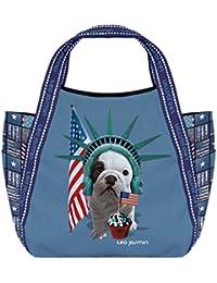 Petit sac shopping Téo Jasmin - America bleu