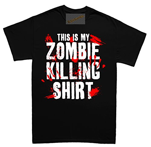 Renowned This is my ZOMBIE KILLING SHIRT !!! Unisex - Kinder T Shirt Schwarz