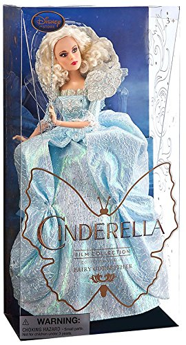 Disney Original - Princess Cinderella Film 2015 / Sammler Kollektion - Fairy Godmother / Gute Fee - Exclusive 28cm - Sammler-puppen Disney