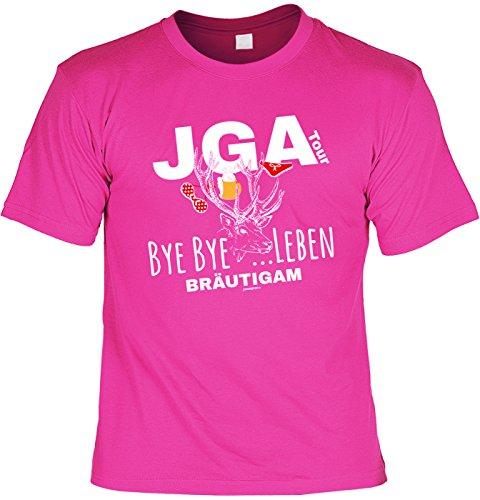 Mega-Shirt Junggesellen T-Shirt JGA Tour Bye Bye …Leben -
