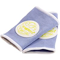 Kneekers Knee Pads for Crawling Babies (Lime Fizz in Perwinkle/Small)