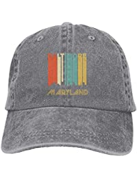 Mangkan Retro Baltimore MD Skyline Adults Adjustable Cowboy Cap Denim Hat  for Outdoor 1e0748cbbad