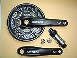 Shimano Alu Kurbel FC-M523 3x10-f octalink 175 mm 40/30/22 schwarz Innenlager