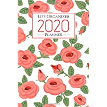 2020 life organizer planner: weekly monthly calendar planner - weekly goals to do list gratitude coloring Mandalas for Stress Relief - monthly budget - Floral Cover