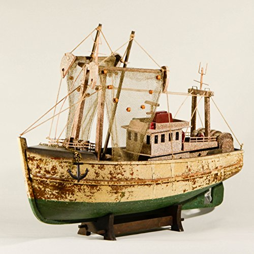UniqueGift 45,7cm Fischkutter, Vintage Style Figur-Collectible Holz Schiff Modell Fischerboot Modell-Holz Fischerboot-Geschenk für Angler-Angeln Maritimes Dekor - Dekor Schiffe