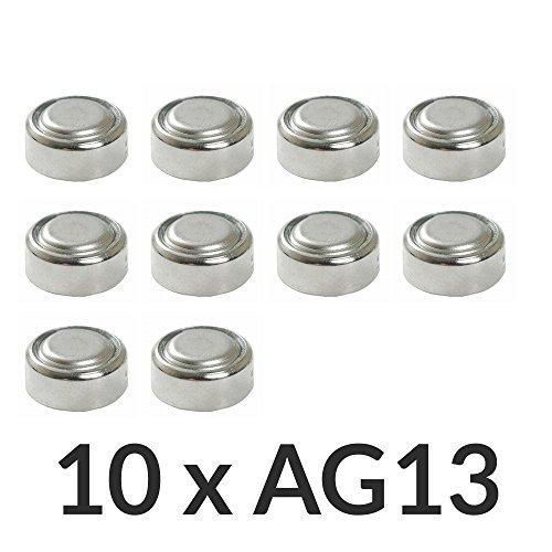 Pila de Boton x10 LR44 AG-13 AG13 357 Alkalina Litio 1.5V caculadoras relojes.. .