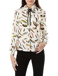 Sugarhill Boutique de la mujer Catrina plumas blusa de manga larga