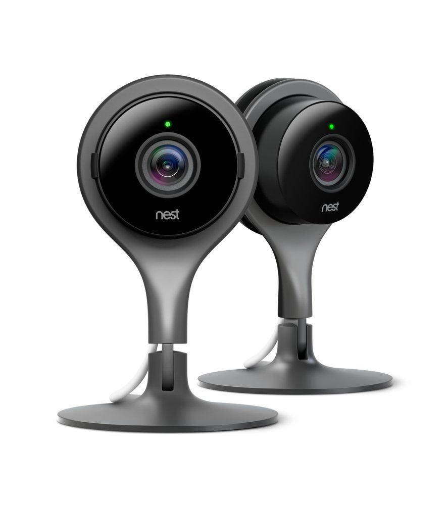 Google Nest Cam Indoor Smart Security Camera, Twin Pack