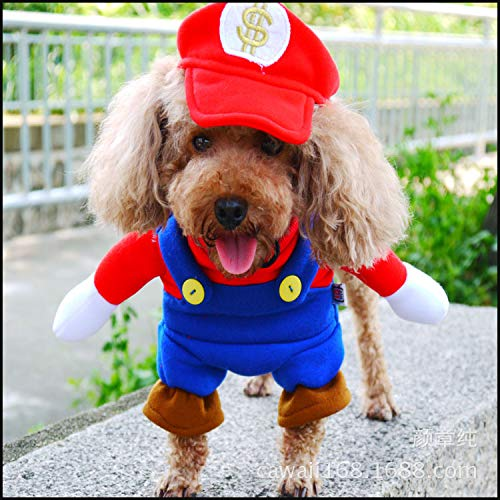 Hot Dawgs Super Mario Dog Puppy Fancy Dress Costume
