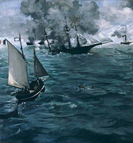 Das Museum Outlet-Manet-Die Schlacht an der Kearsarge und dem Alabama-Poster Print Online kaufen (76,2x 101,6cm)