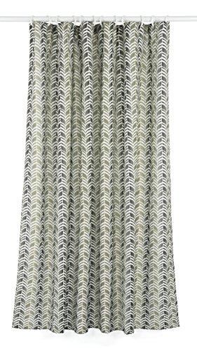 LJ Home Fashions Geometrische Metro 14teilig Vorhang für die Dusche, Liner und Ring Set, Grün/Grau/Natur, 177x 182