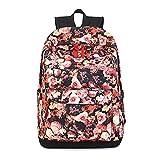 Joymoze Zaino scolastico Vintage con Rose stampate, impermeabile per donne e ragazze zaino per tutti I giorni Giallo 835