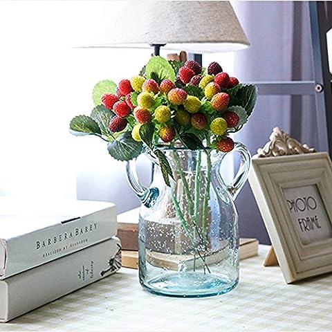 samber fiori artificiali Bouquet da sposa decorazione decorazione floreale fiori di seta Green - Lilly Stem