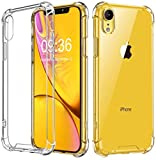 Coque iPhone XR, Bumper Housse Etui de Protection Transparent en Silicone TPU Souple Case Cover pour Apple iPhone XR 6,1 Pouces,[Ultra Fin, Anti-Rayures, Protection Coin, Air Cushion, Anti-Choc]