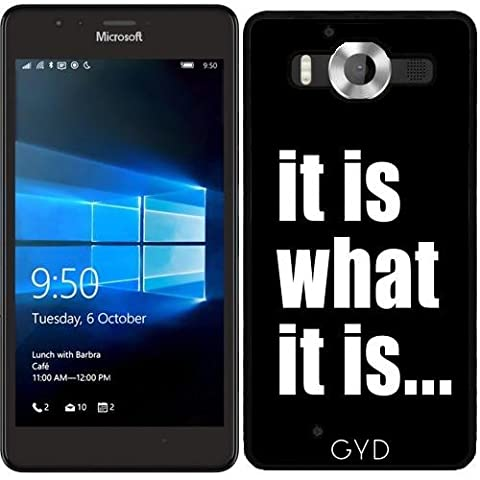 SilikonHülle für Microsoft Lumia 950 - Es Ist, Was Es