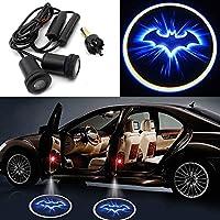 Motoeye - Proyector LED para puerta de coche, diseño de Batman, color azul, 2 unidades, color negro