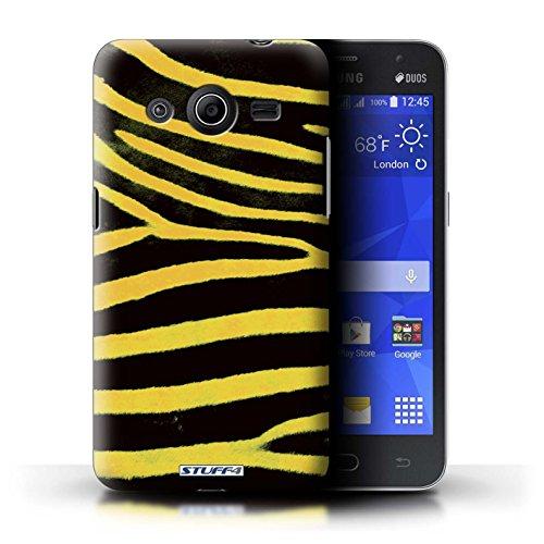 Stuff4 Hülle / Hülle für Samsung Galaxy Core 2 / Gelb Muster / Zebra Tier Haut/Print Kollektion 2 Zebra-haut